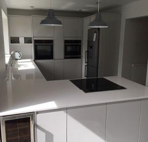 recessed spotlight installation in white southend kitchen