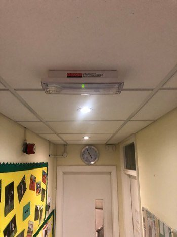 emergency lighting leigh on sea essex school