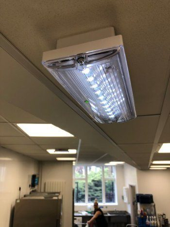 led light installed in chelmsford office
