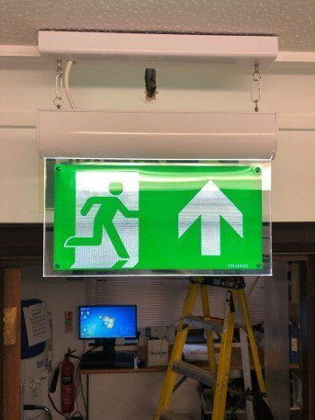 emergency exit sign install