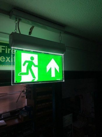 southend on sea emergency exit sign install