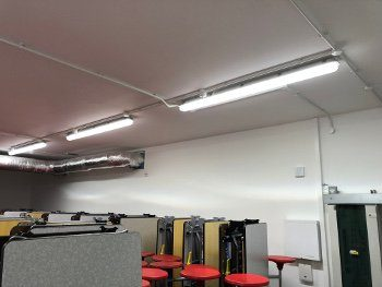 NEW LIGHTING INSTALLATION SCHOOL GRAYS ESSEX