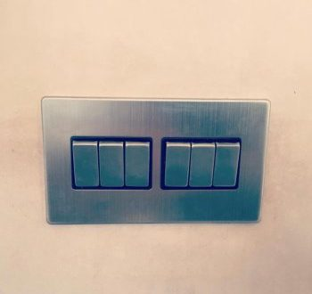 CHROME LIGHT SWITCHES INSTALLED IN LAINDON